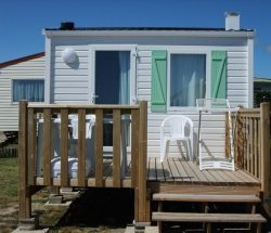 La Falaise Campsite: Mobil Home 16m2 Sea View