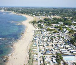 Aerial view, La Falaise Campsite: Aerial view, La Falaise Campsite