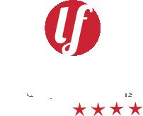Camping La Falaise : Logo La Falaise White Text
