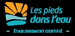 Camping La Falaise : Logo Les Pieds Dans L Eau Couleurs
